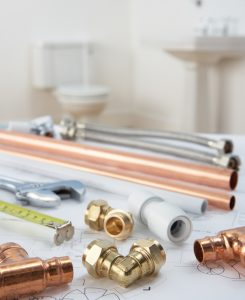 PVC Pipe and Copper Pipe with Compression Adaptor